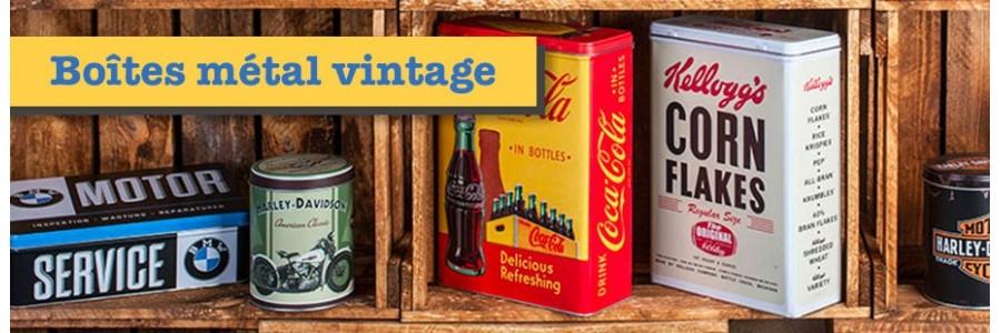 Boîtes en métal vintage de toutes les marques de notre enfance sur le site plaque-vintage.com