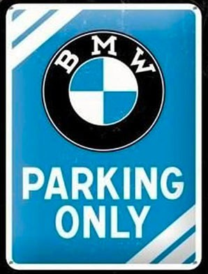 Plaque vintage BMW Vallon Boutik
